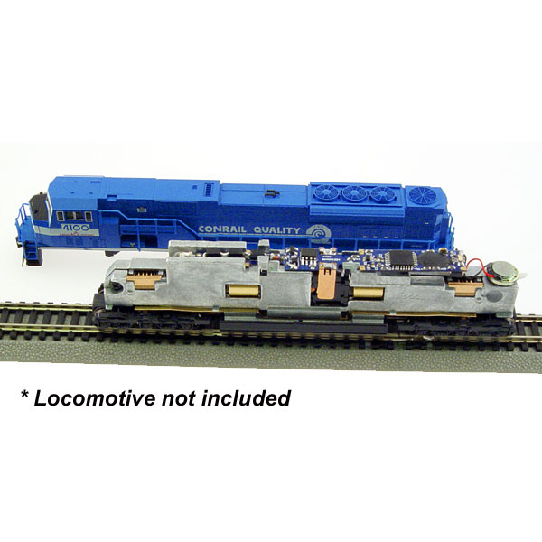 MRC 1808 N DCC Decoder Generic Diesel for Kato SD80, SD90/43MAC This is an MRC 1808 N Scale Digital Command Control (DCC) Dual Mode Sound & Control Decoder Generic Diesel for Kato SD80, SD90/43MAC. Features:Four types of synchronized diesel prime mover sounds to choose from, 0.75 amp capacity, 33 different types of horns and 8 types of bells, Programmable individual sound volumes, Programmable either 2-digit or 4-digit addresses, Programmable start voltage and top voltage, Programmable acceleration and decelaration rates, Programmable 14, 28, 128 speed steps, Supports full read back of CV's, Selectable factory default speed curve, Advanced speed table control CV67-CV94, Kick start voltage control CV65, 3 headlight effects: Directional / rule 17 /off-dim-bright cycle., 28 accessory functions (F1-F28), Supports advanced consisting (CV19), Supports programming on the main (OPS mode), Compatible with NMRA DCC standards, Complies with Part 15 of FCC regulations, 10mm, 32 ohm speaker included, PCB size: 82mm x 9.7mm x 6.2mm, Directly replaces Kato SD80 circuit boardCondition: Factory New (C-9All original; unused; factory rubs and evidence of handling, shipping and factory test run.Standards for all toy train related accessory items apply to the visual appearance of the item and do not consider the operating functionality of the equipment.Condition and Grading Standards are subjective, at best, and are intended to act as a guide. )Operational Status: FunctionalThis item is brand new from the factory.Original Box: Yes (P-9May have store stamps and price tags. Has inner liners.)Manufacturer: MRCModel Number: 1808MSRP: $99.98Scale/Era: N ScaleModel Type: DCC/ElectricalAvailability: Ships in 1 Business Day!The Trainz SKU for this item is P11555134. Track: 11555134 - DS (Shelf)  - 001 - TrainzAuctionGroup00UNK - TDIDUNK
