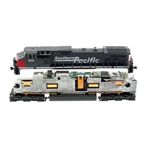 MRC 1960 N Drop-In DCC Decoder - Platinum Series For Kato EMD SD70 & A This is an MRC 1960 N Scale Drop-In Sound & Control DCC Decoder - Platinum Series For Kato EMD SD70 & AC4400. Drop-in fit, 16-bit sound, 2 or 4 digit addressing, 28 accessory functions and 14, 28-128 speed steps. Includes speaker. Replaces factory-installed printed circuit board for Kato SD70MAC and AC4400. Simply remove the pc board and drop in the decoder. Features two selectable, authentic 8-notch diesel prime mover sounds, randomly associated loco sounds, 16 user selectable horns and bells, 28 accessory functions, programmable 14, 28, 128 speed steps, programmable acceleration and deceleration rates and more. Supports programming on the main and advanced consisting.Condition: Factory New (C-9All original; unused; factory rubs and evidence of handling, shipping and factory test run.Standards for all toy train related accessory items apply to the visual appearance of the item and do not consider the operating functionality of the equipment.Condition and Grading Standards are subjective, at best, and are intended to act as a guide. )Operational Status: FunctionalThis item is brand new from the factory.Original Box: Yes (P-9May have store stamps and price tags. Has inner liners.)Manufacturer: MRCModel Number: 1960MSRP: $109.98Scale/Era: N ScaleModel Type: DCC/ElectricalAvailability: Ships in 1 Business Day!The Trainz SKU for this item is P11625236. Track: 11625236 - No Location Assigned - 001 - TrainzAuctionGroup00UNK - TDIDUNK