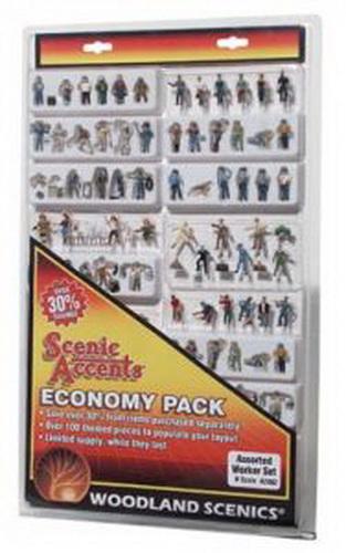 Woodland Scenics A2062 N Scale Worker Economy Figure Set (100)