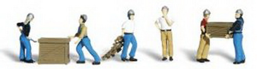 Woodland Scenics A2123 N Scale Dock Worker Figures (6)