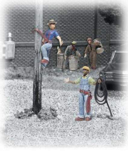 Woodland Scenics A2126 N Scale City Worker Figures (6)