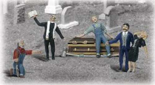Woodland Scenics A2127 N Scale Graveside Service Figures (6)