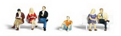 Woodland Scenics A2129 N Scale People Sitting Figures (6)