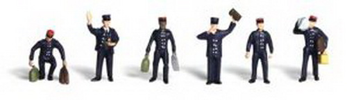 Woodland Scenics A2131 N Scale Train Personnel Figures (6)