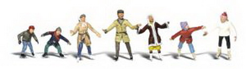 Woodland Scenics A2184 N Scale Ice Skater Figures (6)