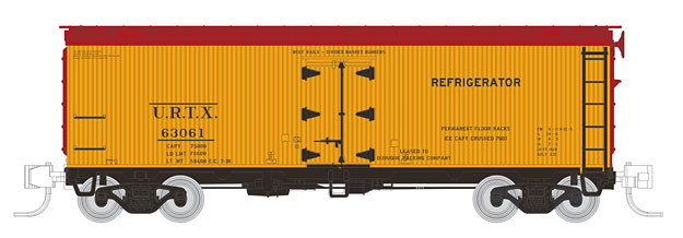 "Rapido Trains 521040 N Union Refrigerator Transit URTX 37' Wood Reefer This is a Rapido Trains 521040 N Scale Union Refrigerator Transit URTX General American 37' Wood Meat Reefer Single - Ready to Run (1938, yellow). General American 37' Wood Meat Reefer 4-Pack - Ready to Run. N Scale GARX Meat Reefer Features: Accurate tooling – never offered before in N scale!,Prototypical ride height,Fully decorated and assembled with factory-installed Micro-Trains couplers,Full underbody with seperate brake rods and piping,Correct roof hatch and latch details,NEW Rapido Barber S1-A trucks with in-line brake shoes and blackened metal wheelsets,9"" Minimum radius.Condition: Factory New (C-9All original; unused; factory rubs and evidence of handling, shipping and factory test run.Standards for all toy train related accessory items apply to the visual appearance of the item and do not consider the operating functionality of the equipment.Condition and Grading Standards are subjective, at best, and are intended to act as a guide. )Operational Status: FunctionalThis item is brand new from the factory.Original Box: Yes (P-9May have store stamps and price tags. Has inner liners.)Manufacturer: Rapido TrainsModel Number: 521040Road Name: Union Refrigerator Transit URTXMSRP: $34.95Scale/Era: N ScaleModel Type: Freight CarsAvailability: Ships in 1 Business Day!The Trainz SKU for this item is P12146758. Track: 12146758 - No Location Assigned - 001 - TrainzAuctionGroup00UNK - TDIDUNK"