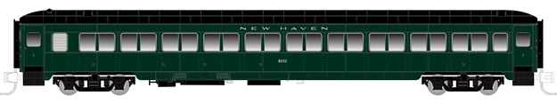 "Rapido Trains 509003 N New Haven Lightweight 10-Window Coach #8258 This is a Rapido Trains 509003 N Scale New Haven Osgood Bradley Lightweight 10-Window Coach w/Partial Skirts - Ready to Run #8258 (1947-50, Hunter Green, black). Features: Never before available in N scale,Full underbody detail,End diaphragms with etched metal end gates,New 41-E trucks with metal wheelsets,Full interior detail,Partial or non-skirted versions,""Easy-Peasy"" battery-operated interior lighting,Metal side grab irons,Accurate paint and lettering.Condition: Factory New (C-9All original; unused; factory rubs and evidence of handling, shipping and factory test run.Standards for all toy train related accessory items apply to the visual appearance of the item and do not consider the operating functionality of the equipment.Condition and Grading Standards are subjective, at best, and are intended to act as a guide. )Operational Status: FunctionalThis item is brand new from the factory.Original Box: Yes (P-9May have store stamps and price tags. Has inner liners.)Manufacturer: Rapido TrainsModel Number: 509003Road Name: New HavenMSRP: $59.95Scale/Era: N ScaleModel Type: Passenger CarsAvailability: Ships in 1 Business Day!The Trainz SKU for this item is P12146660. Track: 12146660 - No Location Assigned - 001 - TrainzAuctionGroup00UNK - TDIDUNK"
