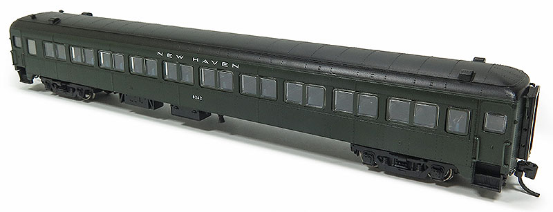 "Rapido Trains 509015 N New Haven Lightweight 10-Window Coach No Skirts This is a Rapido Trains 509015 N Scale New Haven Osgood Bradley Lightweight 10-Window Coach No Skirts - Ready to Run #8201 (1954-55, #401 green, black). Features: Never before available in N scale,Full underbody detail,End diaphragms with etched metal end gates,New 41-E trucks with metal wheelsets,Full interior detail,Partial or non-skirted versions,""Easy-Peasy"" battery-operated interior lighting,Metal side grab irons,Accurate paint and lettering. (different road number shown).Condition: Factory New (C-9All original; unused; factory rubs and evidence of handling, shipping and factory test run.Standards for all toy train related accessory items apply to the visual appearance of the item and do not consider the operating functionality of the equipment.Condition and Grading Standards are subjective, at best, and are intended to act as a guide. )Operational Status: FunctionalThis item is brand new from the factory.Original Box: Yes (P-9May have store stamps and price tags. Has inner liners.)Manufacturer: Rapido TrainsModel Number: 509015Road Name: New HavenMSRP: $59.95Scale/Era: N ScaleModel Type: Passenger CarsAvailability: Ships in 2 Business Days!The Trainz SKU for this item is P12146672. Track: 12146672 - No Location Assigned - 001 - TrainzAuctionGroup00UNK - TDIDUNK"