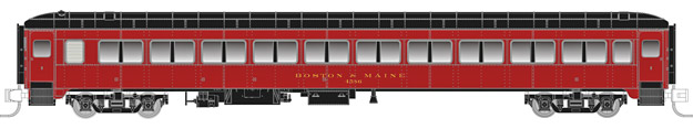 "Rapido Trains 509043 N Boston & Maine Lightweight 10-Window Coach No N This is a Rapido Trains 509043 N Scale Boston & Maine Osgood Bradley Lightweight 10-Window Coach No Skirts - Ready to Run No Number (maroon, black). Features: Never before available in N scale,Full underbody detail,End diaphragms with etched metal end gates,New 41-E trucks with metal wheelsets,Full interior detail,Partial or non-skirted versions,""Easy-Peasy"" battery-operated interior lighting,Metal side grab irons,Accurate paint and lettering.Condition: Factory New (C-9All original; unused; factory rubs and evidence of handling, shipping and factory test run.Standards for all toy train related accessory items apply to the visual appearance of the item and do not consider the operating functionality of the equipment.Condition and Grading Standards are subjective, at best, and are intended to act as a guide. )Operational Status: FunctionalThis item is brand new from the factory.Original Box: Yes (P-9May have store stamps and price tags. Has inner liners.)Manufacturer: Rapido TrainsModel Number: 509043Road Name: Boston & MaineMSRP: $59.95Scale/Era: N ScaleModel Type: Passenger CarsAvailability: Ships in 1 Business Day!The Trainz SKU for this item is P12146700. Track: 12146700 - No Location Assigned - 001 - TrainzAuctionGroup00UNK - TDIDUNK"