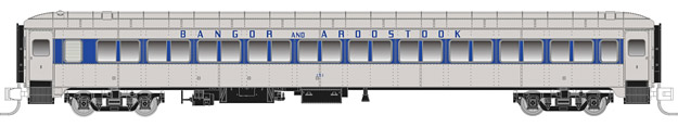 "Rapido Trains 509058 N Bangor & Aroostook Lightweight 10-Window Coach This is a Rapido Trains 509058 N Scale Bangor & Aroostook Osgood Bradley Lightweight 10-Window Coach No Skirts - Ready to Run No Number (gray, blue). Features: Never before available in N scale,Full underbody detail,End diaphragms with etched metal end gates,New 41-E trucks with metal wheelsets,Full interior detail,Partial or non-skirted versions,""Easy-Peasy"" battery-operated interior lighting,Metal side grab irons,Accurate paint and lettering.Condition: Factory New (C-9All original; unused; factory rubs and evidence of handling, shipping and factory test run.Standards for all toy train related accessory items apply to the visual appearance of the item and do not consider the operating functionality of the equipment.Condition and Grading Standards are subjective, at best, and are intended to act as a guide. )Operational Status: FunctionalThis item is brand new from the factory.Original Box: Yes (P-9May have store stamps and price tags. Has inner liners.)Manufacturer: Rapido TrainsModel Number: 509058Road Name: Bangor & AroostookMSRP: $59.95Scale/Era: N ScaleModel Type: Passenger CarsAvailability: Ships in 1 Business Day!The Trainz SKU for this item is P12146715. Track: 12146715 - No Location Assigned - 001 - TrainzAuctionGroup00UNK - TDIDUNK"