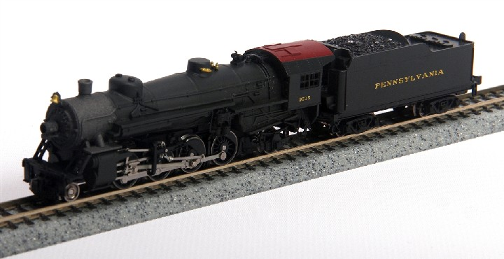 Model Power 87571 N PRR USRA 2-8-2 Mikado #9615 PRODUCT INFORMATIONDie-Cast Metal Boiler, Cylinders & FrameKnuckle Coupler EquippedImproved Electrical Pick-up, including:NEW Tender Pick-upsNEW Pilot Truck Pick-upNEW Improved Driver Wiper Pick-upsTraction-Tire Equipped for Extra Pulling PowerNEW Notched Driver AxleNEW Golden White LED LightingNEW Full DCC Compatibility-Featuring Pilot Light Wiring in TenderPrecision Brass Fly-Wheel and Worm GearSuperior Painting and Authentic SchemesSeparately Applied DetailsRoad Name Specific Details (Trailing Truck/Tender)NEW Road NumbersCondition: Factory New (C-9All original; unused; factory rubs and evidence of handling, shipping and factory test run.Standards for all toy train related accessory items apply to the visual appearance of the item and do not consider the operating functionality of the equipment.Condition and Grading Standards are subjective, at best, and are intended to act as a guide. )Operational Status: FunctionalThis item is brand new from the factory.Original Box: Yes (P-9May have store stamps and price tags. Has inner liners.)Manufacturer: Model PowerModel Number: 87571MSRP: $214.98Scale/Era: N ScaleModel Type: Steam LocoAvailability: Ships in 3 to 5 Business Days.The Trainz SKU for this item is P12083873. Track: 12083873 - FS - 001 - TrainzAuctionGroup00UNK - TDIDUNK