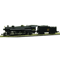 Model Power 87576 N Canadian National Steam 2-8-2 Mikado w/Standard Te This is a Model Power 87576 N Canadian National Steam 2-8-2 Mikado w/Standard Tender Standard DC. Features: Die-Cast Metal Boiler, Cylinders & Frame, Knuckle Coupler Equipped, Improved Electrical Pick-up, including:, NEW Tender Pick-ups, NEW Pilot Truck Pick-up, NEW Improved Driver Wiper Pick-ups, Traction-Tire Equipped for Extra Pulling Power, NEW Notched Driver Axle, NEW Golden White LED Lighting, NEW Full DCC Compatibility-Featuring Pilot Light Wiring in Tender, Precision Brass Fly-Wheel and Worm Gear, Superior Painting and Authentic Schemes, Separately Applied Details, Road Name Specific Details (Trailing Truck/Tender), NEW Road Numbers.Condition: Factory New (C-9All original; unused; factory rubs and evidence of handling, shipping and factory test run.Standards for all toy train related accessory items apply to the visual appearance of the item and do not consider the operating functionality of the equipment.Condition and Grading Standards are subjective, at best, and are intended to act as a guide. )Operational Status: FunctionalThis item is brand new from the factory.Original Box: Yes (P-9May have store stamps and price tags. Has inner liners.)Manufacturer: Model PowerModel Number: 87576Road Name: Canadian NationalMSRP: $214.98Scale/Era: N ScaleModel Type: Steam LocoAvailability: Ships in 1 Business Day!The Trainz SKU for this item is P12112608. Track: 12112608 - No Location Assigned - 001 - TrainzAuctionGroup00UNK - TDIDUNK