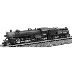 Model Power 87592 N Union Pacific 2-8-2 Mikado w/Vanderbilt Tender Sta This is a Model Power 87592 N Union Pacific 2-8-2 Mikado w/Vanderbilt Tender Standard DC. Features: Die-Cast Metal Boiler, Cylinders & Frame, Knuckle Coupler Equipped, Improved Electrical Pick-up, including:, NEW Tender Pick-ups, NEW Pilot Truck Pick-up, NEW Improved Driver Wiper Pick-ups, Traction-Tire Equipped for Extra Pulling Power, NEW Notched Driver Axle, NEW Golden White LED Lighting, NEW Full DCC Compatibility-Featuring Pilot Light Wiring in Tender, Precision Brass Fly-Wheel and Worm Gear, Superior Painting and Authentic Schemes, Separately Applied Details, Road Name Specific Details (Trailing Truck/Tender), NEW Road Numbers.Condition: Factory New (C-9All original; unused; factory rubs and evidence of handling, shipping and factory test run.Standards for all toy train related accessory items apply to the visual appearance of the item and do not consider the operating functionality of the equipment.Condition and Grading Standards are subjective, at best, and are intended to act as a guide. )Operational Status: FunctionalThis item is brand new from the factory.Original Box: Yes (P-9May have store stamps and price tags. Has inner liners.)Manufacturer: Model PowerModel Number: 87592Road Name: Union PacificMSRP: $224.98Scale/Era: N ScaleModel Type: Steam LocoAvailability: Ships in 1 Business Day!The Trainz SKU for this item is P12112611. Track: 12112611 - No Location Assigned - 001 - TrainzAuctionGroup00UNK - TDIDUNK