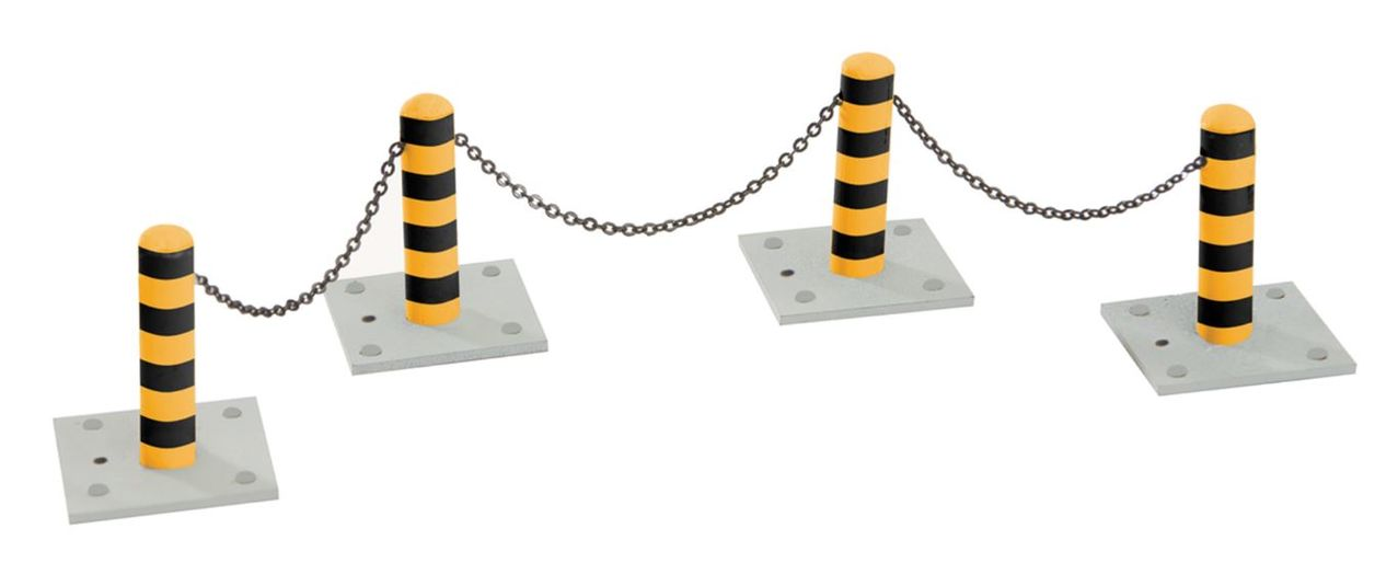 Lionel 6-22580 O Bollards & Chains Pack This is a Lionel 6-22580 O Bollards & Chains Pack. Use the bollards alone to stop vehicles or thread the chain through to create a continuous barrier. Dimensions: 1 1/8 Height.Condition: Factory New (<span class= tooltip  style= text-decoration: underline; color: blue;  title= C-9: All original; unused; factory rubs and evidence of handling, shipping and factory test run.Standards for all toy train related accessory items apply to the visual appearance of the item and do not consider the operating functionality of the equipment.Condition and Grading Standards are subjective, at best, and are intended to act as a guide. >C-9)Operational Status: FunctionalOriginal Box: Yes (P-9)Manufacturer: LionelModel Number: 6-22580MSRP: $19.99Scale/Era: O ModernModel Type: Accessories & BuildingsAvailability: Ships within 3 Business Days!The Trainz SKU for this item is P11451213. Track: 11451213 - 4013-E (Suite 2730-100)  - 001 - TrainzAuctionGroup00UNK - TDIDUNK