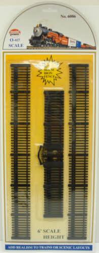 Model Power 6086 O Scale Black Iron Fence Set