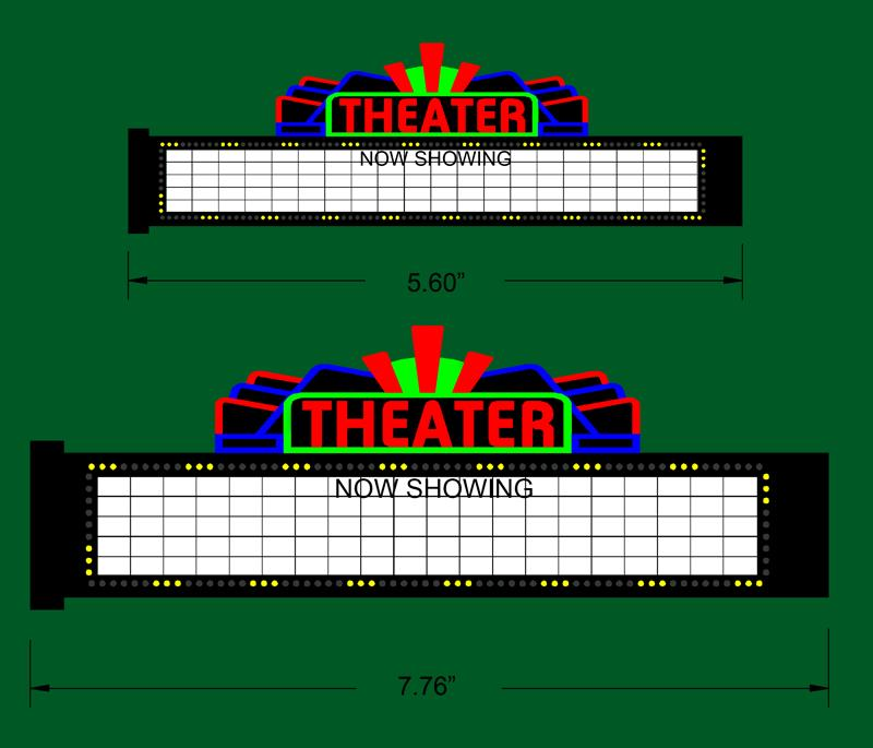 Miller Engineering 1181 S/O Large Theatre Sign This is a Miller Engineering 1181 S/O Scales Large Theatre Sign. The perfect sign to create your off along with it's detail the marquee can be used for many different applications. Because of the marquee's special construction, it can be curved around almost any form to give the sign a three dimensional look. Great addition to your layout or a diorama. Dimensions: approx. 2.64 high x 7.75 wide. Kit includes: •Electroluminescence sign lamp •Power supply (requires 3 AAA batteries - not included) •1 blank and 3 movie title (True Grit, Casablanca & Gone with the Wind) peel & stick overlays •Complete instructions.Condition: Factory New (C-9All original; unused; factory rubs and evidence of handling, shipping and factory test run.Standards for all toy train related accessory items apply to the visual appearance of the item and do not consider the operating functionality of the equipment.Condition and Grading Standards are subjective, at best, and are intended to act as a guide. )Operational Status: FunctionalThis item is brand new from the factory.Original Box: Yes (P-9May have store stamps and price tags. Has inner liners.)Manufacturer: Miller EngineeringModel Number: 1181MSRP: $45.95Scale/Era: O ModernModel Type: Accessories & BuildingsAvailability: Ships in 1 Business Day!The Trainz SKU for this item is P11957251. Track: 11957251 - No Location Assigned - 001 - TrainzAuctionGroup00UNK - TDIDUNK