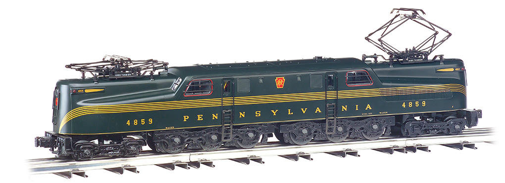 Williams 41850 O Pennsylvania Railroad GG1 Electric - Conventional 3-R This is a Williams 41850 O Scale Pennsylvania Railroad GG1 Electric - Conventional 3-Rail with True Blast Plus(R) Sound - Williams™ #4859. Features include: True Blast® Plus 16-bit polyphonic sound including electric locomotive sounds, horn, and bell , 6 wheel power trucks with traction tires , powered by dual motors with flywheel coasting action , all metal gears , electronic 6-amp reverse board with directional lock-out , durable ABS plastic shell , die-cast trucks, truck sides, and pilots , dual headlights , twin operating pantographs , add-on stamped metal ladders , add-on grabrails and window bars.Condition: Factory New (C-9All original; unused; factory rubs and evidence of handling, shipping and factory test run.Standards for all toy train related accessory items apply to the visual appearance of the item and do not consider the operating functionality of the equipment.Condition and Grading Standards are subjective, at best, and are intended to act as a guide. )Operational Status: FunctionalThis item is brand new from the factory.Original Box: Yes (P-9May have store stamps and price tags. Has inner liners.)Manufacturer: WilliamsModel Number: 41850Road Name: PennsylvaniaMSRP: $699.99Scale/Era: O ModernModel Type: Electric LocoAvailability: Ships in 3 to 5 Business Days.The Trainz SKU for this item is P12178450. Track: 12178450 - FS - 001 - TrainzAuctionGroup00UNK - TDIDUNK