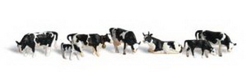 Woodland Scenics A2724 O Scale Holstein Cows Figures (6)