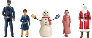 """Lionel 6-37183 O 10th Anniversay Pewter Snowman and 4 Children Figure Making his appearance in the Polar Express movie, this special snowman wearing oven mitt gloves is surrounded by some of our favorite Polar Express characters. These precious newly-tooled figures are handpainted on pewter. FeaturesFive pewter figures of classic movie characters including the Conductor, Hero Boy, the Snowman, Hero Girl and Santa ClausGauge: Traditional O GaugeDimensions: Average Height: Approx. 1 3/8""""Condition: Factory New (C-9All original; unused; factory rubs and evidence of handling, shipping and factory test run.Standards for all toy train related accessory items apply to the visual appearance of the item and do not consider the operating functionality of the equipment.Condition and Grading Standards are subjective, at best, and are intended to act as a guide. )Operational Status: FunctionalThis item is brand new from the factory.Original Box: Yes (P-9May have store stamps and price tags. Has inner liners.)Manufacturer: LionelModel Number: 6-37183MSRP: $36.99Scale/Era: O ModernModel Type: FiguresAvailability: Ships within 3 Business Days!The Trainz SKU for this item is P11824638. Track: 11824638 - 4007-C (Suite 2730-100)  - 001 - TrainzAuctionGroup00UNK - TDIDUNK"""
