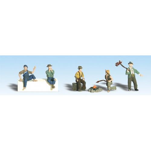 Woodland Scenics A2734 O Scale Painted Hobo Figures (6)