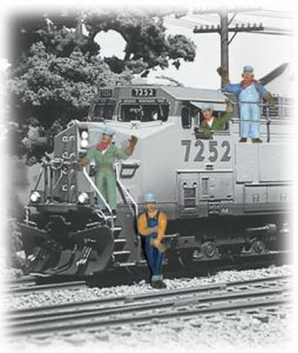 Woodland Scenics A2733 O Scale Train Engineer Figures (6)