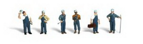 Woodland Scenics A2721 O Scale Train Mechanic Figures (6)