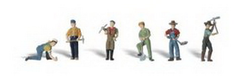 Woodland Scenics A2723 O Scale Track Worker Figures (6)