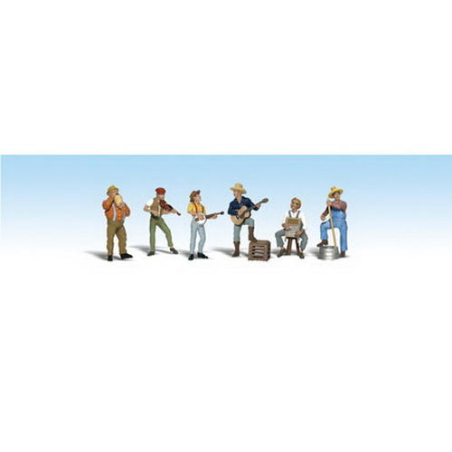 Woodland Scenics A2743 O Scale Jug Band Figures (6)
