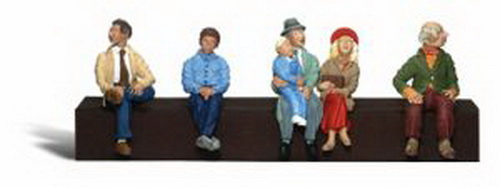 Woodland Scenics A2731 O Scale Passenger Figures (6) A set of six people sitting - three individual men and a mother, father and child (bench not included).Condition: Factory New (C-9All original; unused; factory rubs and evidence of handling, shipping and factory test run.Standards for all toy train related accessory items apply to the visual appearance of the item and do not consider the operating functionality of the equipment.Condition and Grading Standards are subjective, at best, and are intended to act as a guide. )Operational Status: FunctionalThis item is brand new from the factory.Original Box: Yes (P-9May have store stamps and price tags. Has inner liners.)Manufacturer: Woodland ScenicsModel Number: A2731MSRP: $23.99Scale/Era: O ModernModel Type: FiguresAvailability: Ships within 3 Business Days!The Trainz SKU for this item is P11422377. Track: 11422377 - 4041-E (Suite 2730-100)  - 001 - TrainzAuctionGroup00UNK - TDIDUNK