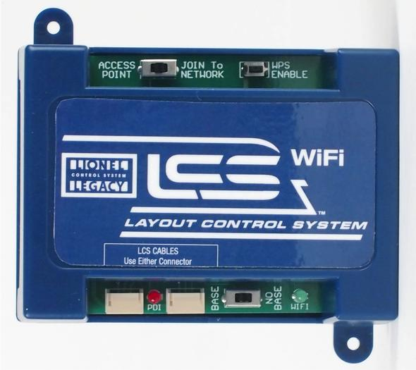 """Lionel 6-81325 O LCS WiFi Module This is Lionel 6-81325 O LCS WiFi Module. WiFi Control your Layout from Tablets and Smart Phones. With LCS Wi-Fi, you can operate your model railroad using devices such as the Apple iPad®, computers, smart phones or other Wi-Fi devices. LCS Wi-Fi can create its own independent WiFi network or join an existing one.Up to 15 Wi-Fi devices can be connected at once. Each connected device requires software written specifically for the LCS system. Lionel's LCS App is available as a free download for the iPad. In addition, Lionel has made the LEGACY & LCS protocol codes available to third party developers.A Base/No Base switch lets you configure an LCS system without a Lionel command base. Choose this type of installation if you are exclusively running conventional locomotives, but want iPad control over your switches. Or if you are using another type of locomotive control system, such as DCC, but want to be able to use BPC2, ASC2 or other LCS modules to control your layout.LCS Wi-Fi gets its operating power on the same cables used for data transmission. One 6-81499 LCS Power Supply and DB9 cable is required per LCS installation (even in a """"no base"""" configuration).Condition: Factory New (C-9All original; unused; factory rubs and evidence of handling, shipping and factory test run.Standards for all toy train related accessory items apply to the visual appearance of the item and do not consider the operating functionality of the equipment.Condition and Grading Standards are subjective, at best, and are intended to act as a guide. )Operational Status: FunctionalThis item is brand new from the factory.Original Box: Yes (P-9May have store stamps and price tags. Has inner liners.)Manufacturer: LionelModel Number: 6-81325MSRP: $179.99Scale/Era: O ModernModel Type: Electronics & WiringAvailability: Ships in 2 Business Days!The Trainz SKU for this item is P11969975. Track: 11969975 - S01 (Shelf)  - 001 - TrainzAuctionGroup00UNK -"""