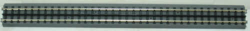 MTH 40-1019 RealTrax 30 Inch Straight Track Section This is a single section of MTH 40-1019 RealTrax 30 Inch Straight Track. It features hollow nickel-silver rails, quick snap-together connections, and requires no track pins or rail joiners. Realtrax is simply the easiest O Gauge track system ever manufactured. Featuring hollow metal rails strong enough to stand on and a built-in roadbed for a realistic appearance ensures that a RealTrax layout will last for years while sporting a realistic appearance not found in other O Gauge track systems. RealTrax incorporates built-in track bed joiners and long-lasting sprung- metal electrical connectors that make assembling RealTrax literally a snap. Because the roadbed is solid, RealTrax is perfect for temporary carpet based layouts. The built-in roadbed prevents any dirt from staining your carpet and it comes apart so easily that your temporary layout can be disassembled in minutes. While the RealTrax system employs solid nickel-silver rails that won't rust or oxidize in an outdoor environment, the plastic roadbed and rail ties are constructed of ABS plastic that can be compromised outdoors. Essentially, ABS plastic is not designed to withstand extreme temperature swings and can distort (in high heat) or crack in extreme cold. In addition, the plastic will tend to fade in color since it has not been treated with UV resistant paint. As a result, we do not recommend that RealTrax be used outdoors.Condition: Factory New (C-9All original; unused; factory rubs and evidence of handling, shipping and factory test run.Standards for all toy train related accessory items apply to the visual appearance of the item and do not consider the operating functionality of the equipment.Condition and Grading Standards are subjective, at best, and are intended to act as a guide. )Operational Status: FunctionalThis item is brand new from the factory.Original Box: Yes (P-9May have store stamps and price tags. Has inner liners.)Manufacturer: MTHMod