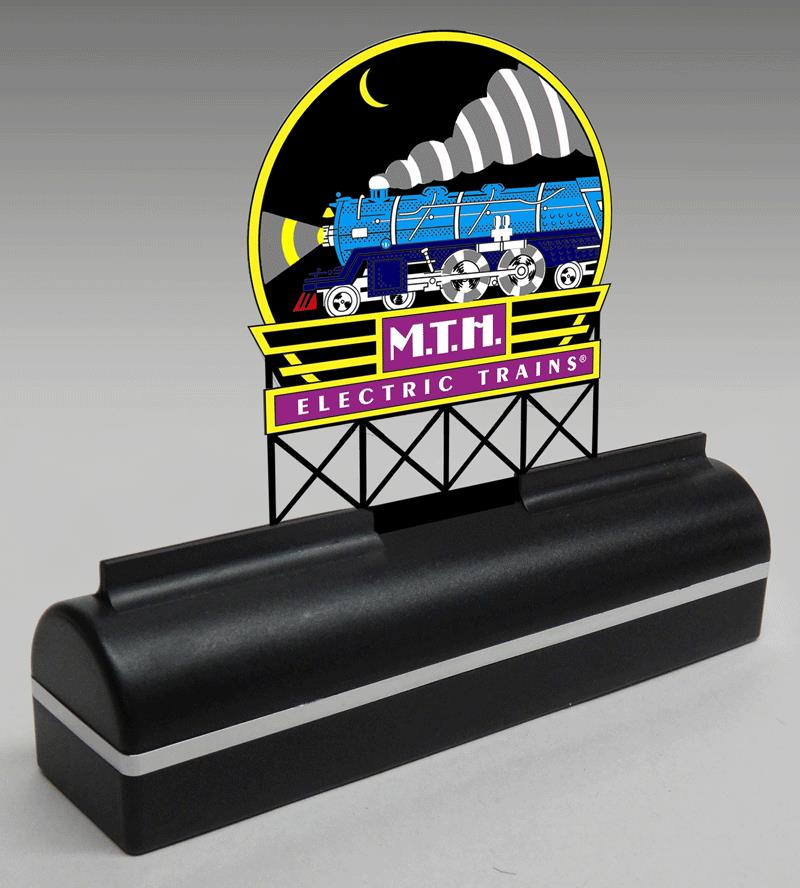 Miller Engineering 2250 MTH Electric Trains Desk Top Animated Billboar This is a Miller Engineering 2250 All Scales MTH Electric Trains Desk Top Animated Billboard Sign. Includes animated sign and desk top base. The animated sign measures 4.6 inches tall x 3.7 inches wide, and the base measures 6.25 inches wide x 1.75 inches high x 1.50 inches deep. Runs on 3 AAA batteries (not included) or 4.5v DC power supply (sold separately).Condition: Factory New (C-9All original; unused; factory rubs and evidence of handling, shipping and factory test run.Standards for all toy train related accessory items apply to the visual appearance of the item and do not consider the operating functionality of the equipment.Condition and Grading Standards are subjective, at best, and are intended to act as a guide. )Operational Status: FunctionalThis item is brand new from the factory.Original Box: Yes (P-9May have store stamps and price tags. Has inner liners.)Manufacturer: Miller EngineeringModel Number: 2250Road Name: MTHMSRP: $49.95Scale/Era: Other ScalesModel Type: AccessoriesAvailability: Ships in 1 Business Day!The Trainz SKU for this item is P11676838. Track: 11676838 - No Location Assigned - 001 - TrainzAuctionGroup00UNK - TDIDUNK