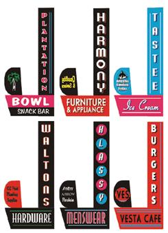 Miller Engineering 67812 Animated Sign Kit Downtown Series #2 - Right This is a Miller Engineering 67812 All Scales Animated Multi-Graphic Vertical Neon Sign Kit with 6 Overlays Downtown Series #2 - Right - Large. These lighted signs add realism to any storefront. Each includes colorful graphic overlays for six businesses that provide full-color lighted lettering; plug-and-play electronics, on-off switch and battery holder that uses three AAA batteries (sold separately). Larger signs are suitable for HO and larger scales; smaller signs can be used in HO and N Scales. All are available in left- or right-handed orientations and are easily mounted to the front of your storefronts. Suitable for steam or diesel eras. Sign features animated rays.Condition: Factory New (C-9All original; unused; factory rubs and evidence of handling, shipping and factory test run.Standards for all toy train related accessory items apply to the visual appearance of the item and do not consider the operating functionality of the equipment.Condition and Grading Standards are subjective, at best, and are intended to act as a guide. )Operational Status: FunctionalThis item is brand new from the factory.Original Box: Yes (P-9May have store stamps and price tags. Has inner liners.)Manufacturer: Miller EngineeringModel Number: 67812MSRP: $26.95Scale/Era: O ModernModel Type: Accessories & BuildingsAvailability: Ships in 3 to 5 Business Days.The Trainz SKU for this item is P11508823. Track: 11508823 - FS - 001 - TrainzAuctionGroup00UNK - TDIDUNK