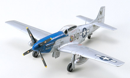 Tamiya 60749 1/72 P51D MUSTANG This is Tamiya 60749 1/72 P51D Mustang. In April 1940, drawings were sketched in a New York City hotel room for a new fighter aircraft for the British Purchasing Commission. This fighter, the North American NA73X, became one of the best fighter aircraft in the U.S. Army Airforce during World War II, and is known as the P-51 Mustang. Of the several variations of this famous fighter, the P-51D is generally accepted as the definitive Mustang and was the first production version with the bubble canopy. More D model Mustangs were built than all other Mustang variants combined, with a total of 9,603 coming off production lines.Its key features are:Detailed 1/72nd scale for static displayReady to assemble precision model kit with fine recessed panel lines on fuselage and wingsDetailed landing gear and wheel wellsDetailed cockpitChoice of Dallas-built canopy or a normal canopy, each in the bubble designTwo 75 gallon drop tanks4-bladed propeller on noseWaterslide decals and detailed pictorial instructionsMarking options:1: HO, M, 414151, U.S. Air Force Star Insignia2: E2, S, 413926, U.S. Air Force Star Insignia3: G4, C, 411622, Nooky Booky IV, U.S. Air Force InsigniaAirframe and Detail Colors:Olive Drab, Bare-Metal Silver, Black, Blue, Green, Red, Lemon Yellow, Gun Metal, Chrome Silver, Semi Gloss Black, Flat Black, Flat Yellow, Flat Green, Flat Blue, Flat Brown, Flat AluminumCondition: Factory NewOperational Status: FunctionalThis item is brand new from the factory.Original Box: YesManufacturer: TamiyaModel Number: 60749MSRP: $19.00Category 1: Other ToysCategory 2: Model KitsAvailability: Ships in 3 to 5 Business Days.The Trainz SKU for this item is P11994082. Track: 11994082 - FS - 001 - TrainzAuctionGroup00UNK - TDIDUNK
