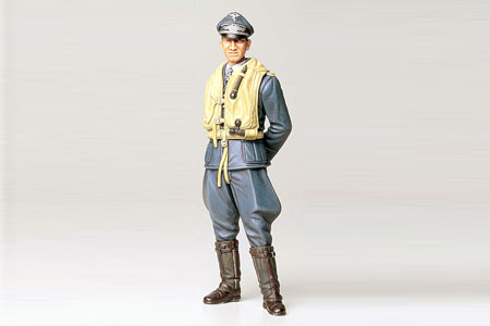 Tamiya 36302 1/16 Luftwaffe Ace Pilot This is a Tamiya 36302 1/16 German Luftwaffe Ace Pilot.Product Features:Plastic pieces molded in grey and attached to sprues.Ready to assemble precision model kit.Highly detailed clothing and facial expression.Figure stands in natural pose holding hands behind back.Includes interesting information about uniform badges.Figure includes a Knights Cross with oak leaf and swords.Assembly and painting instructions are printed on box.Condition: Factory NewOperational Status: FunctionalThis item is brand new from the factory.Original Box: YesManufacturer: TamiyaModel Number: 36302MSRP: $14.50Category 1: Other ToysCategory 2: Model KitsAvailability: Ships in 3 to 5 Business Days.The Trainz SKU for this item is P12000551. Track: 12000551 - FS - 001 - TrainzAuctionGroup00UNK - TDIDUNK
