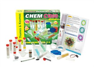 Thames & Kosmos 640125 Chem C2000 Chemistry Experiment Kit This is a Thames & Kosmos 640125 CHEM C2000 Chemistry Experiment Kit. Discover how fascinating the world is when you understand the remarkable reactions behind ordinary occurrences. CHEM C2000 includes everything in CHEM C1000 and more — with twice the tools and materials, and more than three times the experiments. Most notably, this kit introduces you to the alcohol burner for experiments that require heat, greatly expanding the number of experiments you can conduct. Experiment with filtering and separating mixtures, combustion, and electrochemical reactions. Learn how to work with indicators and stronger acids and bases. Explore elements and compounds, including the chemical and physical properties of water, carbon dioxide, oxygen, hydrogen, and carbon. Discover atoms and molecules. Inspect soaps and household cleaners. Experiment with various foods from the kitchen to learn about sugars, fats, and proteins. Investigate metals such as iron, copper, and aluminum. Learn about how chemistry is used in environmental protection and industry. After completing CHEM C2000, you will have experienced firsthand the most important topics in chemistry, creating an excellent foundation for later study of chemical equations and atomic structure. The 128-page, full-color manual guides aspiring young chemists through 250 experiments. The manual provides clear instructions for preparing and performing the experiments and explains the results. Thorough safety precautions and instructions ensure safe experimentation. Professional quality equipment helps you make the most of your chemistry experiments. Ages 11 and up.Condition: Factory NewOperational Status: FunctionalThis item is brand new from the factory.Original Box: YesManufacturer: Thames & KosmosModel Number: 640125MSRP: $179.95Category 1: Other ToysCategory 2: Model KitsAvailability: Ships in 3 to 5 Business Days.The Trainz SKU for this item is P12066297