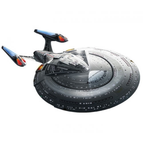 AMT 853 1:14 Star Trek USS Enterprise 1701E Plastic Model Kit This is AMT 853 1:1400 USS ENTERPRISE 1701E. In 1996, the Enterprise-E made its first appearance in the film Star Trek: First Contact. The E shared many of the classic design elements of previous starships: twin nacelles, a saucer-like main section and torpedo-like engineering hull with deflector dish. This new version, however, featured a sleeker, more needle-like appearance, indicative of its advanced warp capabilities and enhanced weaponry. This DETAILED 1:1400 SCALE glue kit is 19 long when assembled and includes decals and a display stand.Its key features are:19 longMolded in grey, plus clear parts in red and & blue35 partsDetailed decal sheetSkill Level: 2 (ages 10 and up)Glue assembly, paint requiredCondition: Factory NewOperational Status: FunctionalThis item is brand new from the factory.Original Box: YesManufacturer: AMTModel Number: 853MSRP: $44.98Category 1: Other ToysCategory 2: Model KitsAvailability: Ships in 1 Business Day!The Trainz SKU for this item is P11978367. Track: 11978367 - DS (Shelf)  - 001 - TrainzAuctionGroup00UNK - TDIDUNK