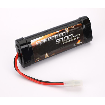 Dynamite 1090 Speedpack 5100mAh NiMH 6-Cell Flat This is a Dynamite 1090 Speedpack 5100mAh NiMH 6-Cell Flat. Providing the ultimate in Ni-MH technology, Dynamite® Speedpack™ sport packs are an extremely affordable choice for everyone from RC hobbyists to sport-level racers. They feature capacity ratings ranging from 1800mAh to 5100mAh, making it easier than ever to choose the right Ni-MH battery for your vehicle. Features: Tamiya type connector, 6-cell stick configuration fits most popular 1/10-scale electric vehicles, 5100mAh capacity provides extended run times.Condition: Factory NewOperational Status: FunctionalThis item is brand new from the factory.Original Box: YesManufacturer: DynamiteModel Number: 1090MSRP: $59.99Category 1: Other ToysCategory 2: Radio Control ToysAvailability: Ships in 3 to 5 Business Days.The Trainz SKU for this item is P12062391. Track: 12062391 - FS - 001 - TrainzAuctionGroup00UNK - TDIDUNK