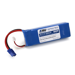 E-Flite B15003S 3S Li-Poly Battery Pack 20C 11.1V/1500mAh This is an E-flite B15003S 3S Li-Pol Battery Pack 20C, 11.1V/1500mAh. Key Features:Capable of maximum continuous discharge rates up to 20C, placing this battery among the most powerful LiPo battery packs in its classAble to power even the highest performance modelsEquipped with balancing leads and connectors that are compatible with most balancers and balancing chargers*Equipped with E-flite® EC3 connector on main power leadsPlug-and-play use with E-flite ESCs and chargers right out of the packageOverview:E-flite High-Power Lithium Polymer batteries offer an excellent blend of weight, power and performance. Available in a wide variety of capacities and voltages, there's a battery perfect for almost any application from indoor slow flyer to large-scale sport and aerobatic airplane models, as well as micro to mid-sized helicopter models. WARNING: Lithium Polymer (LiPo) batteries are significantly more volatile than the alkaline, Ni-Cd or Ni-MH batteries used in RC applications. All instructions and warnings found on the inside of this card must be followed exactly. Mishandling of LiPo batteries can result in fire. By handling, charging or using this LiPo battery you assume all risks associated with LiPo batteries. If you do not agree with these conditions, return this LiPo battery in new, unused condition to the place of purchase immediately. Product SpecificationsType: Lithium PolymerCapacity: 1500mAhVoltage: 11.1VConnector Type: Main Power Leads: E-flite EC3 / Balancing: Standard 4-PinWire Gauge: 13Number of Cells: 3Weight: 5.0 oz (142g)Configuration: 3SLength: 4.10 in (104mm)Width: 1.35 in (34.3mm)Height: 0.75 in (19.1mm)Maximum Continuous Discharge : 20CMaximum Continuous Current : 30ACondition: Factory NewOperational Status: FunctionalThis item is brand new from the factory.Original Box: YesManufacturer: E-fliteModel Number: B15003SMSRP: $35.99Category 1: Other ToysCategory 2: Radio Control ToysAvailabilit