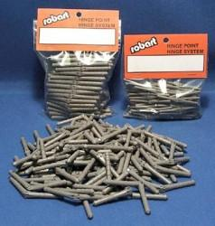 Robart Manufacturing 312B 3/16  Hinge Bulk 100 Pcs. This is a Robart Manufacturing 312B 3/16 Hinge Bulk 100 Pcs. For 1.20 to Giant Scale Models. Hinge Point Hinges are truly unique. Instead of trying to chisel a slot, as with ordinary hinges, simply drill a hole, add some glue and insert the hinge point. Simple, perfectly straight hinging can be done quickly. The hinges are available in three sizes 3/32, 1/8 & 3/16.Condition: Factory NewOperational Status: FunctionalThis item is brand new from the factory.Original Box: YesManufacturer: RobartModel Number: 312BMSRP: $43.45Category 1: Other ToysCategory 2: Radio Control ToysAvailability: Ships in 3 to 5 Business Days.The Trainz SKU for this item is P12111055. Track: 12111055 - FS - 001 - TrainzAuctionGroup00UNK - TDIDUNK
