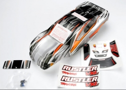 Traxxas 3715 ProGraphix Body with Decal: Rustler VXL This is a Traxxas 3715 ProGraphix Body with Decal: Rustler VXL. Features: From mild to wild, choose your own color and personalize your body. The detailed graphics are fully painted, but the rest of the body is clear, so you can choose your own main body color. Simply grab a can of paint and spray the final color. It's easy for anyone to get instant, professional results. The bodies are completely trimmed and include the body post holes for easy installation on the chassis.Condition: Factory NewOperational Status: FunctionalThis item is brand new from the factory.Original Box: YesManufacturer: TraxxasModel Number: 3715MSRP: $34.99Category 1: Other ToysCategory 2: Radio Control ToysAvailability: Ships in 1 Business Day!The Trainz SKU for this item is P12082960. Track: 12082960 - No Location Assigned - 001 - TrainzAuctionGroup00UNK - TDIDUNK