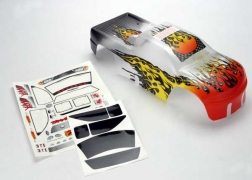 Traxxas 4911X ProGraphix Body With Decal: T-Maxx .15, 2.5, 3.3 This is a Traxxas 4911X ProGraphix Body with Decal: T-Maxx .15, 2.5, 3.3. Features: rom mild to wild, choose your own color and personalize your body. The detailed graphics are fully painted, but the rest of the body is clear, so you can choose your own main body color. Simply grab a can of paint and spray the final color. It's easy for anyone to get instant, professional results. The bodies are completely trimmed and include the body post holes for easy installation on the chassis.Condition: Factory NewOperational Status: FunctionalThis item is brand new from the factory.Original Box: YesManufacturer: TraxxasModel Number: 4911XMSRP: $35.00Category 1: Other ToysCategory 2: Radio Control ToysAvailability: Ships in 1 Business Day!The Trainz SKU for this item is P12083544. Track: 12083544 - 1005-A (Suite 2740-200)  - 001 - TrainzAuctionGroup00UNK - TDIDUNK