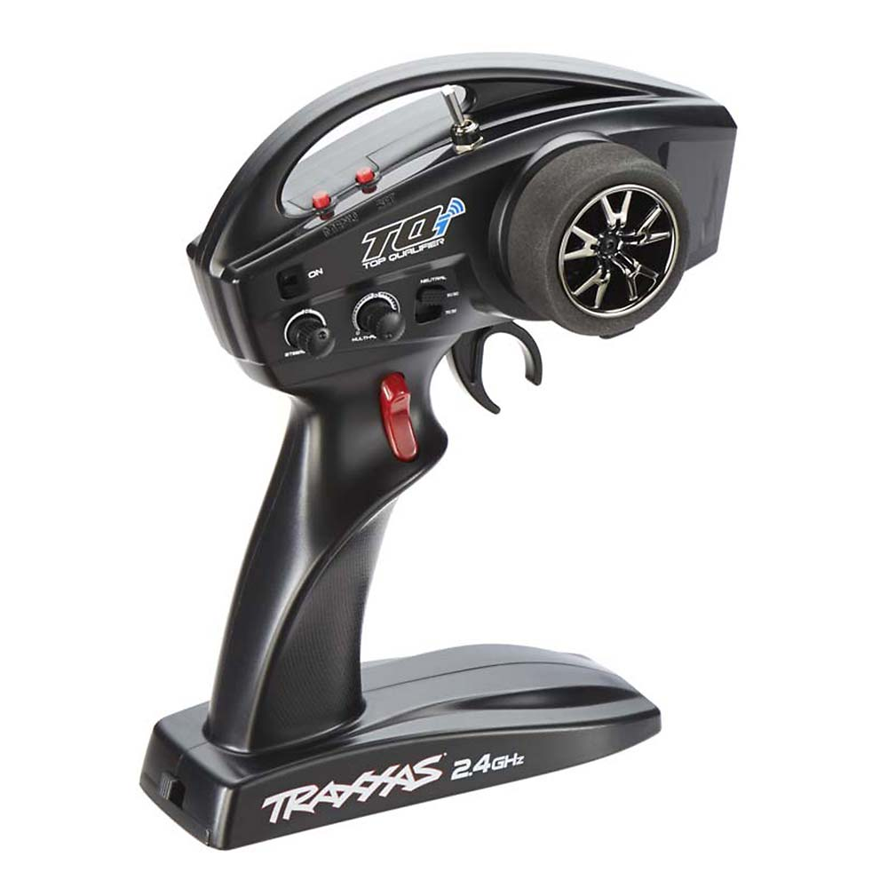 Traxxas 6530 TQi 2.4GHz, TX Only, Link Enabled, 4-Channel This is Traxxas 6530 TQi 2.4GHz, TX Only, Link Enabled, 4-Channel. Transmitter only, receiver and servos not included.Its key features are:Can be equipped with the Traxxas Link Wireless Module (TRAC6511)along with the iPhone, iPad or iPod touch* to create a graphical user interface for the vehicleSimple two-button programming interfaceBuilt-in failsafeAutomatic model recognition recalls settings for up to 30 TraxxasLink enabled modelsAdjustable throttle and steering endpointsMulti-Function knob can be programmed to control Steering Sensitivity, Throttle Sensitivity, Steering Percentage, Braking Percentage, orThrottle TrimRequires four AA batteriesCondition: Factory NewOperational Status: FunctionalThis item is brand new from the factory.Original Box: YesManufacturer: TraxxasModel Number: 6530MSRP: $115.00Category 1: Other ToysCategory 2: Radio Control ToysAvailability: Ships in 1 Business Day!The Trainz SKU for this item is P12061775. Track: 12061775 - No Location Assigned - 001 - TrainzAuctionGroup00UNK - TDIDUNK