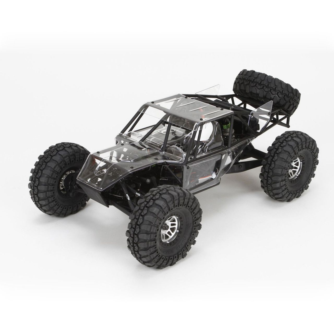 Vaterra 03001 Twin Hammers 1.9 Rock Racer Kit This is a Vaterra 03001 Twin Hammers 1.9 Rock Racer Kit. Named for a pair of infamous off-road trails in Californiaüfs Mojave Desert, the Twin HammersR rock racer epitomizes the spirit of 4WD adventure. This kit version lets experienced RC drivers build the vehicle to their specifications, using the electronics and power system of their choice. It also takes the performance of this proven platform to the next level by including the option parts that have been most popular with the RTR version. These would include options like licensed Interco Super Swamper Tires, a front locker, heavy duty front axle outdrives and more. Its key features are: 4-Wheel Drive Shift-on-the-fly, two-speed transmission Metal transmission gears Metal gear differentials 4-Link rear suspension Threaded-body aluminum shocks Licensed Interco Super Swamper tires Independent cantilever front suspension Metal 12mm hexes Dual position battery tray Heavy duty outdrives Front differential locker Front and rear swaybars Clear body panels GenRight? decal sheet Specifications: Motor Size: 540 Required Approximate Assembly Time: 10?15 Hours Ball Bearings: Yes Batteries: Not included, Not included Body: Unpainted Clear Polycarbonate Panels (flat hood and roof) w/ GenRight Decals, Unpainted Clear Polycarbonate Panels (flat hood and roof) w/ GenRight Decals Charger: Not included Chassis: Molded Composite Completion Level: Kit Drivetrain: 4WD Final Drive Ratio: High Gear - 18.1:1 Low Gear - 32.1:1, High Gear - 18.1:1 Low Gear - 32.1:1 Front Track: 10.00 in (254mm), 10.00 in (254mm) Gear Pitch: 48-Pitch Ground Clearance: 2.25 in (57mm), 2.25 in (57mm) Internal Gear Ratio: High Gear - 2.27:1 Low Gear - 4.05:1, High Gear - 2.27:1 Low Gear - 4.05:1 Pinion: 28T (recommended) Rear Track: 10.00 in (254mm), 10.00 in (254mm) Recommended Environment: Off-Road Servos Included: N Shock Type: Aluminum Oil Filled Coil-over Size/Scale: 1/10 Speed Control Included: N Spur Gea