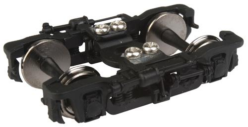 Walthers 920-2106 HO GSC Passenger Truck 41-CNS-11 w/Clasp Brake 1 Pai This is a Walthers 920-2106 HO GSC Passenger Truck 41-CNS-11 w/Clasp Brake 1 Pair, Black. Features: Easy Upgrade for New & Older Passenger Cars, Fully Assembled, Ready to Use, Built-in Electrical Contacts for Car Lighting, 36 Turned Metal Wheels.Condition: Factory New (C-9All original; unused; factory rubs and evidence of handling, shipping and factory test run.Standards for all toy train related accessory items apply to the visual appearance of the item and do not consider the operating functionality of the equipment.Condition and Grading Standards are subjective, at best, and are intended to act as a guide. )Operational Status: FunctionalThis item is brand new from the factory.Original Box: Yes (P-9May have store stamps and price tags. Has inner liners.)Manufacturer: WalthersModel Number: 920-2106MSRP: $14.98Scale/Era: HO ModernModel Type: Wheels, Trucks, CouplersAvailability: Ships in 3 to 5 Business Days.The Trainz SKU for this item is P12110133. Track: 12110133 - FS - 001 - TrainzAuctionGroup00UNK - TDIDUNK