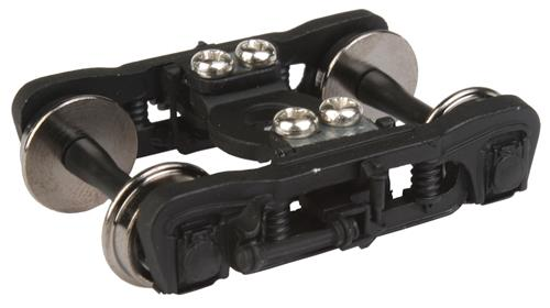 Walthers 920-2122 HO GSC Commuter Truck - 1 Pair, Black This is a Walthers 920-2122 HO GSC Commuter Truck - 1 Pair, Black. Features: Easy Upgrade for New & Older Passenger Cars, Fully Assembled, Ready to Use, Built-in Electrical Contacts for Car Lighting, 36 Turned Metal Wheels.Condition: Factory New (C-9All original; unused; factory rubs and evidence of handling, shipping and factory test run.Standards for all toy train related accessory items apply to the visual appearance of the item and do not consider the operating functionality of the equipment.Condition and Grading Standards are subjective, at best, and are intended to act as a guide. )Operational Status: FunctionalThis item is brand new from the factory.Original Box: Yes (P-9May have store stamps and price tags. Has inner liners.)Manufacturer: WalthersModel Number: 920-2122MSRP: $14.98Scale/Era: HO ModernModel Type: Wheels, Trucks, CouplersAvailability: Ships in 3 to 5 Business Days.The Trainz SKU for this item is P12110147. Track: 12110147 - FS - 001 - TrainzAuctionGroup00UNK - TDIDUNK