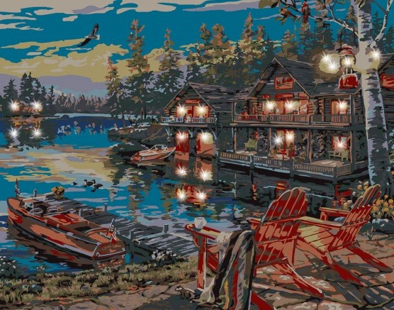 Plaid Paint by Number 22064 Loon Lake Canvas with Lights (11 x14 ) This is a Plaid Paint by Number 22064 Loon Lake (Chairs at Dock/Cabin) Canvas with Lights (11x14).Condition: Factory NewOperational Status: FunctionalThis item is brand new from the factory.Original Box: YesManufacturer: Plaid Print by NumbersModel Number: 22064MSRP: $999.00Category 1: ArtworkCategory 2: OtherAvailability: Ships in 3 to 5 Business Days.The Trainz SKU for this item is P12166798. Track: 12166798 - FS - 001 - TrainzAuctionGroup00UNK - TDIDUNK