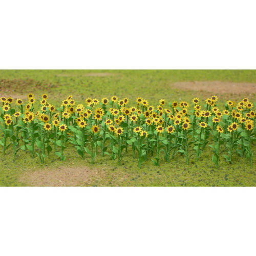 JTT Scenery Products 95524 Sunflowers, 2  (16) This is JTT Scenery Products 95524 Sunflowers, 2 (16). If you like our corn, you'll LOVE JTT sunflowers. Individually hand made and each sunflower has subtle differences. Big, bold and accurate in detail, they'll bring a smile to any modelers face.JTT's Flowering Plants Series use the unique twisted wire process and handmade detail that makes JTT trees so genuine. Individually hand made and each sunflower has subtle differences. The series also features bushes, trees and hedges, as well as petunias, tulips, and remarkably realistic corn stalks up to 2 high. Capturing nature's most vibrant colors, contours and textures in HO and O scale, these flowering plants come alive in red, pink, green, yellow, purple and blended colors.Create natural landscaped borders for your layout, a colorful countryside, brilliant backdrops for homes and buildings. JTT's unique flowering plants deliver a convincing reality that are unique to the marketplace.Its key features are:assembled & ready to plantavailable in HO & O scaleCondition: Factory New (C-9All original; unused; factory rubs and evidence of handling, shipping and factory test run.Standards for all toy train related accessory items apply to the visual appearance of the item and do not consider the operating functionality of the equipment.Condition and Grading Standards are subjective, at best, and are intended to act as a guide. )Operational Status: FunctionalThis item is brand new from the factory.Original Box: Yes (P-9May have store stamps and price tags. Has inner liners.)Manufacturer: JTT Scenery ProductsModel Number: 95524MSRP: $9.75Category 1: Scenery & MaterialsCategory 2: Ground CoverAvailability: Ships within 3 Business Days!The Trainz SKU for this item is P11640077. Track: 11640077 - 1025-B (Suite 2740-200)  - 001 - TrainzAuctionGroup00UNK - TDIDUNK