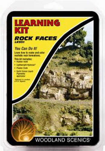 Woodland Scenics LK951 Rock Faces Learning Kit Modelers learn to make, install and color realistic rock formations. The kit contains illustrated instructions, a heavy-duty rubber rock mold and the enough of the following products to finish four to five rocks: Lightweight Hydrocal, Plaster Cloth and Earth Colors Liquid Pigments. Condition: Factory New (C-9All original; unused; factory rubs and evidence of handling, shipping and factory test run.Standards for all toy train related accessory items apply to the visual appearance of the item and do not consider the operating functionality of the equipment.Condition and Grading Standards are subjective, at best, and are intended to act as a guide. )Operational Status: FunctionalThis item is brand new from the factory.Original Box: Yes (P-9May have store stamps and price tags. Has inner liners.)Manufacturer: Woodland ScenicsModel Number: LK951MSRP: $16.99Category 1: Scenery & MaterialsCategory 2: Ballast/Coal/RockAvailability: Ships in 1 Business Day!The Trainz SKU for this item is P11543803. Track: 11543803 - 4001-D (Suite 2730-100)  - 001 - TrainzAuctionGroup00UNK - TDIDUNK