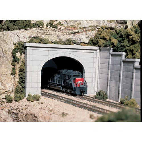 Woodland Scenics C1256 HO Concrete Double Tunnel Portal